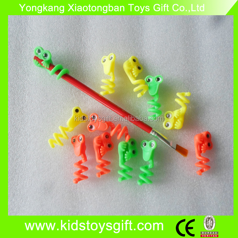 hot selling snake toy / plastic pencil cap topper toy