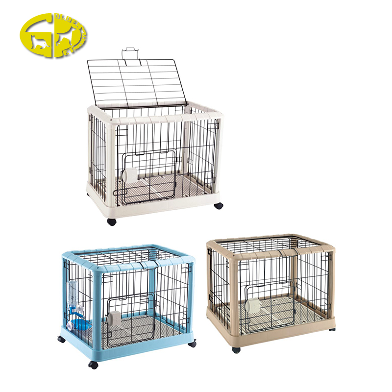 Newest luxury metal folding fence pet dog crates with wheels