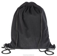 Durable Extra Large Size Velvet Drawstring Backpack Cloth Shoe Box Laptop Carry Bag for Sport