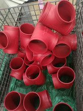 M/UL LISTED equal ductile iron pipe fitting GROOVED tee