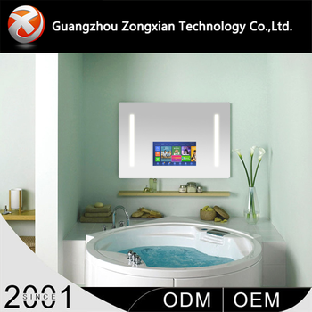Oval Shaped Led Smart Mirror Bathroom with TV and Bluetooth Functions