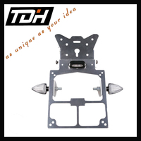 moto spare parts hot aluminum black number plate bracket for motorcycle