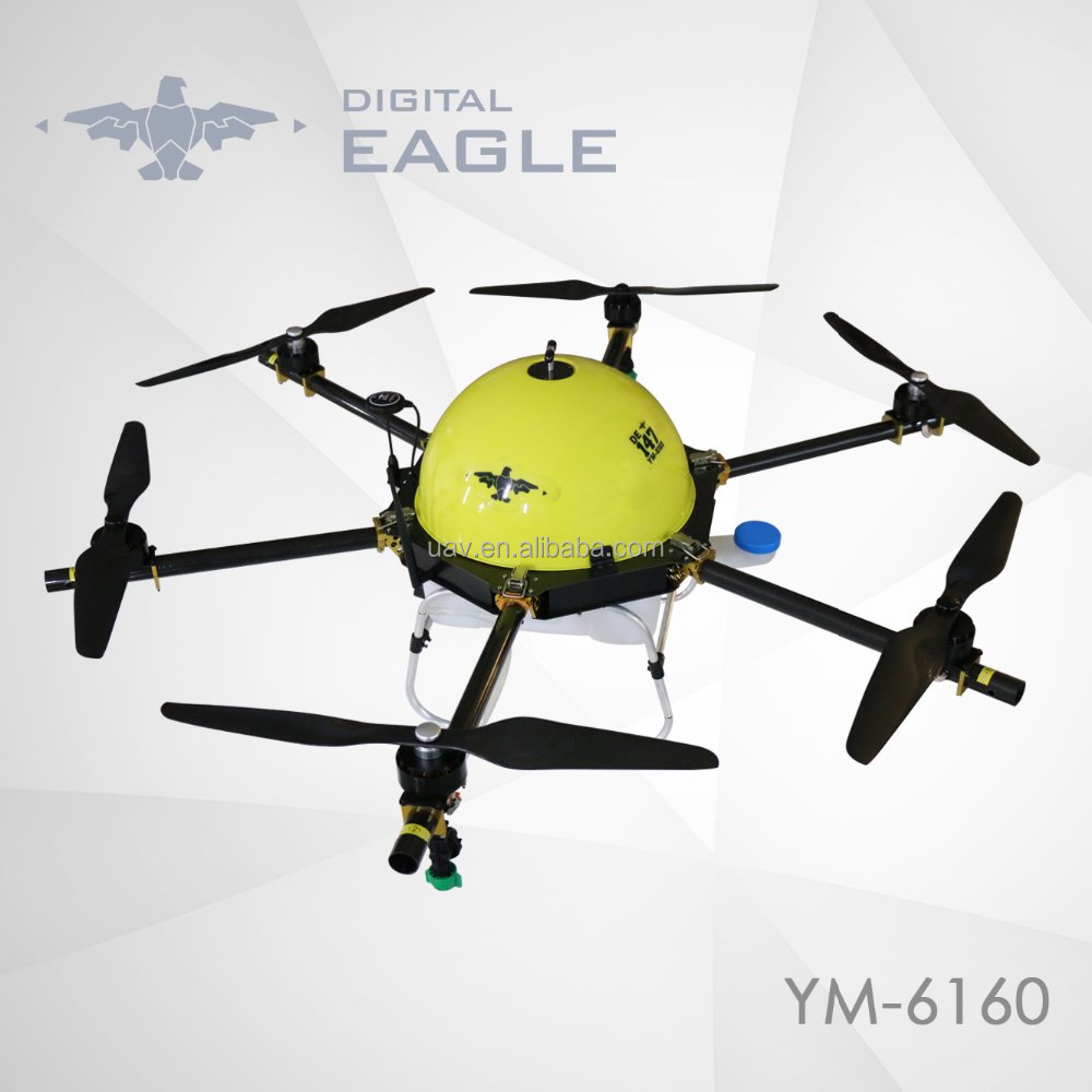 Fumigation agriculture sprayer UAV drones with GPS use for farming protection and survey