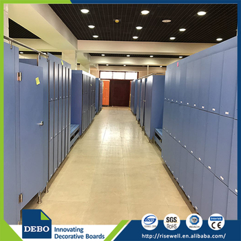 hpl phenolic resin compact laminate board commercial small lockers