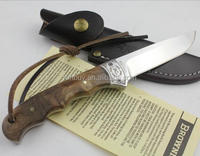 OEM Shadow Wood Fied Hunting Straight Knife