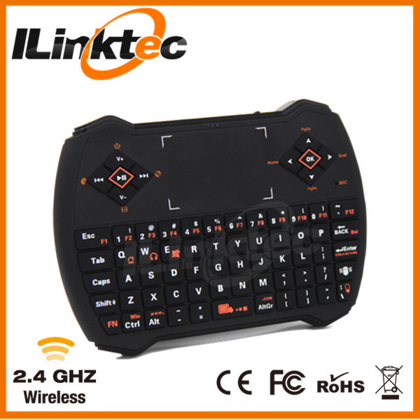 Backlit Mini Wireless Keyboard Air Mouse 2.4G Wireless Keyboard For Android TV Box Combo Audio Port