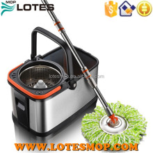 Portable handle 360 degree super quality double rotating spin mop big bucket