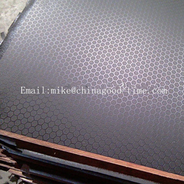 Hardwood core antislip film faced plywood , antiskid plywood sheets for building construction
