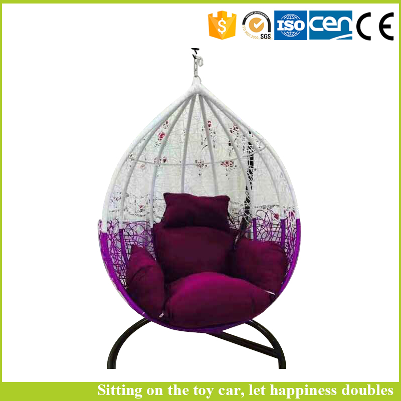 Living room children egg shaped swing chair with single seat
