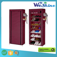 hot selling Shoe Rack Shelf Storage Closet Organizer Cabinet 10 Layer 9 Grid shoe cabinet / Dust-proof shoe rack
