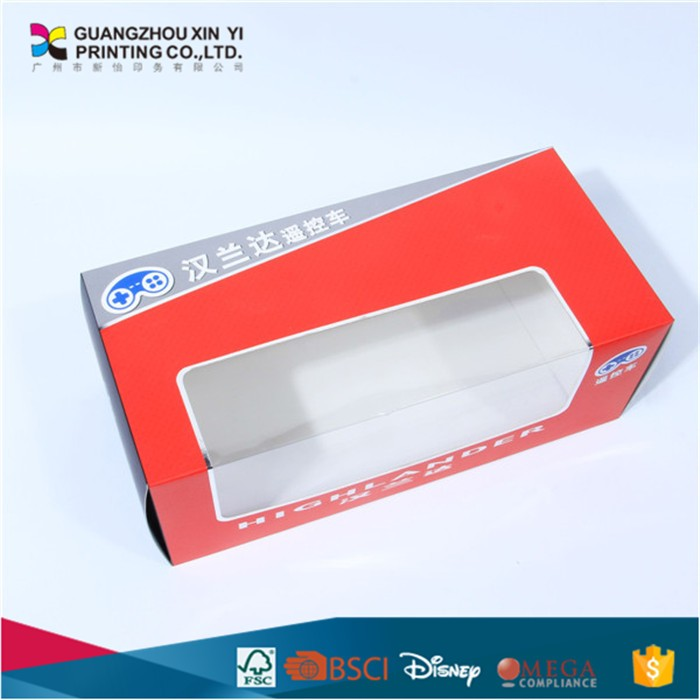 good quality model car packing box with PVC printing