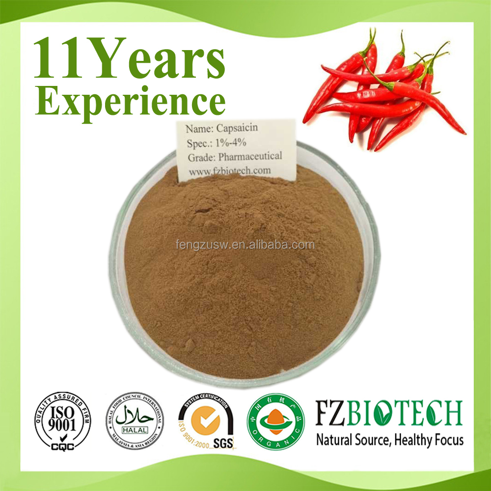 ISO factory offer high purity nature 10% Pure capsaicin powder