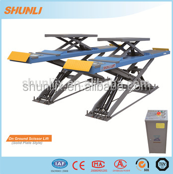 CE Approved Four Wheel Alignment Manual Car Scissor Lift