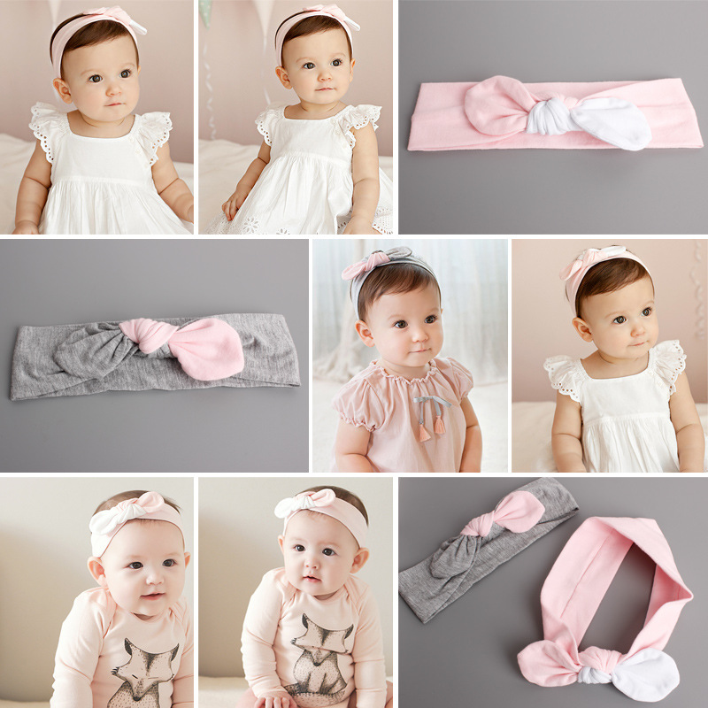S31768W New Baby Hair Accessories Girls Big Bow Headwrap Lovely Bowknot Cotton Headband