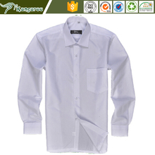 Low price cheap formal office business white classic simple African long sleeves 100% cotton shirt for men