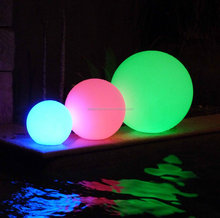 IP 68 Water proof Hotel use 16 colors changing led Glow swimming pool balls