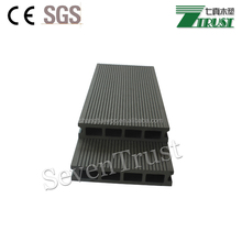Non fade color grooving hollow wood plastic composite floor decking