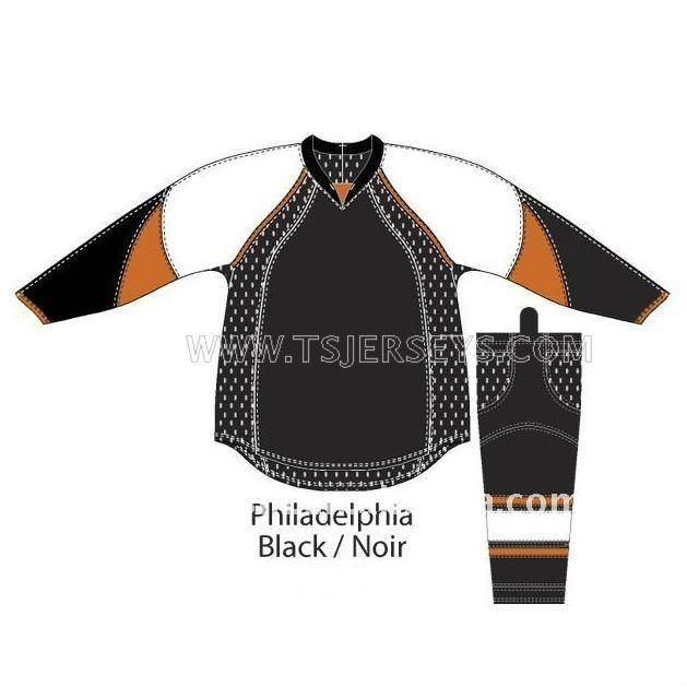 Custom Blank Hockey Jerseys/Practice Jerseys Philadelaphia Flyers Black