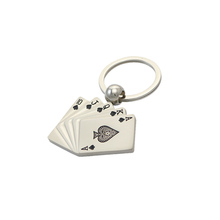game theme keychains, zinc alloy custom keyrings, keychains for poker