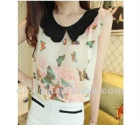 models of fashion blouses in chiffon for young ladies 2013 summer