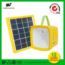 High quality outdoor handle power solar led camping lantern with FM radio mobile phone charger