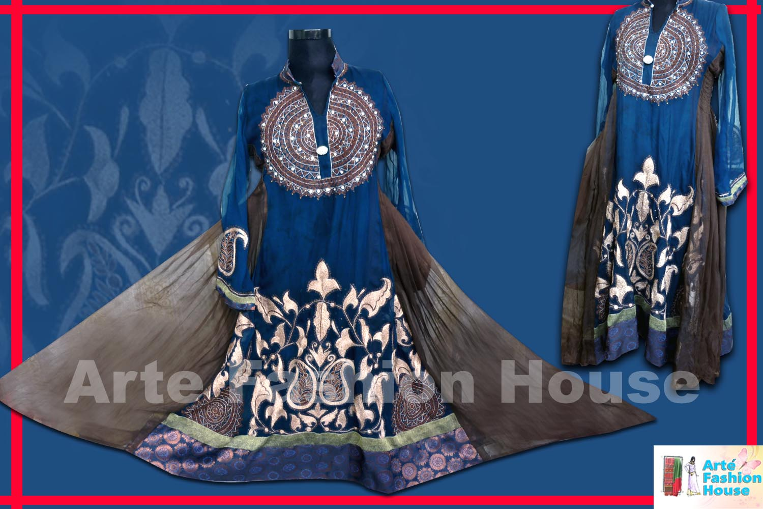 latest indian pakistani party wear frock