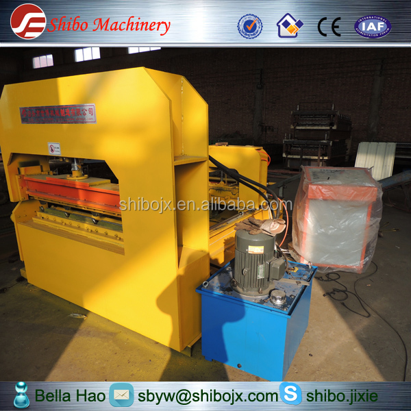 SB crimping roof sheet roll forming machine with PLC