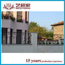 Yishujia factory faux cheap wrought iron fence panels for sale, wholesale decorative modern wrought iron panels
