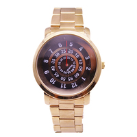 paidu unique turntable time design japan quartz movement luxury gold stainless steel band men watch