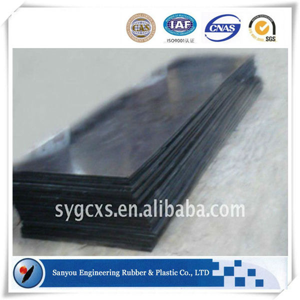 HDPE industrial hard polyethylene black and white plastic sheeting