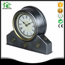 promotion black antique stand table quartz clock design