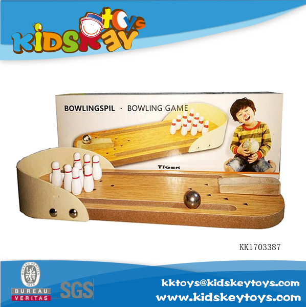 hot new products for 2017 wooden educational toy Bowling game for children