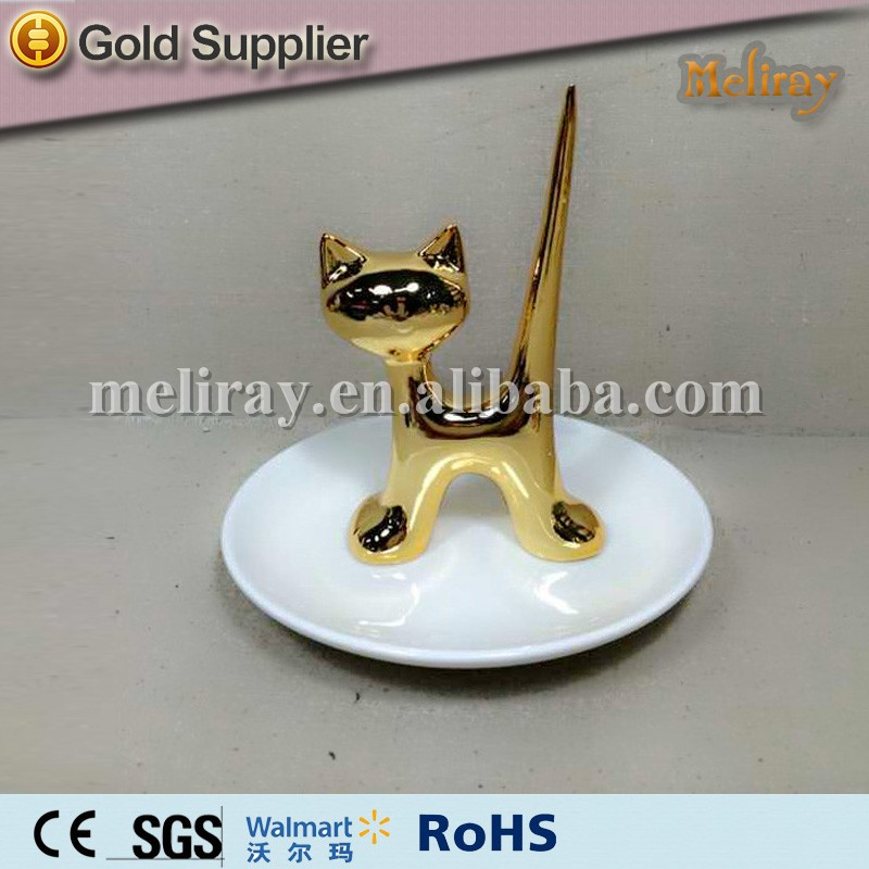 ceramic hand ring holder with tray