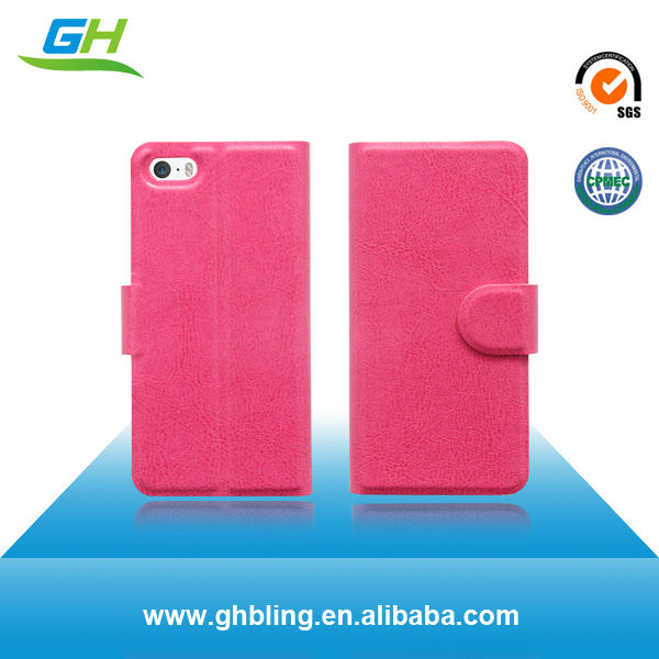 2014 New Product for iphone 5c leather case