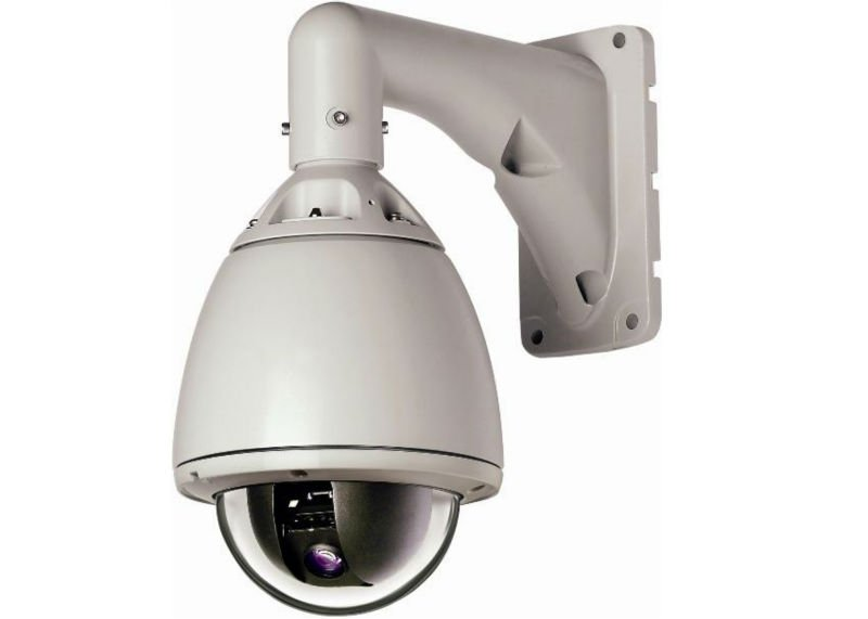 Rotating outdoor security camera 360 degrees continuous rotate
