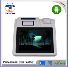 Android pos terminal support 3G/WiFi/RFID reader/Barcod scanner/build-in thermal printer