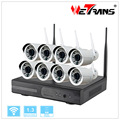 2017 Professional Wifi Camera and DVR security System 8CH wireless NVR KIT