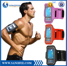 Factory supply sport style stylish colorful soft outdoor Cell Phone Sport Armband for iphone 5/5s