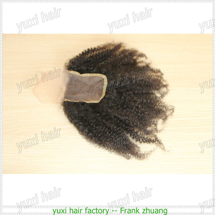 Factory wholesale fast lead time kinky curly closure