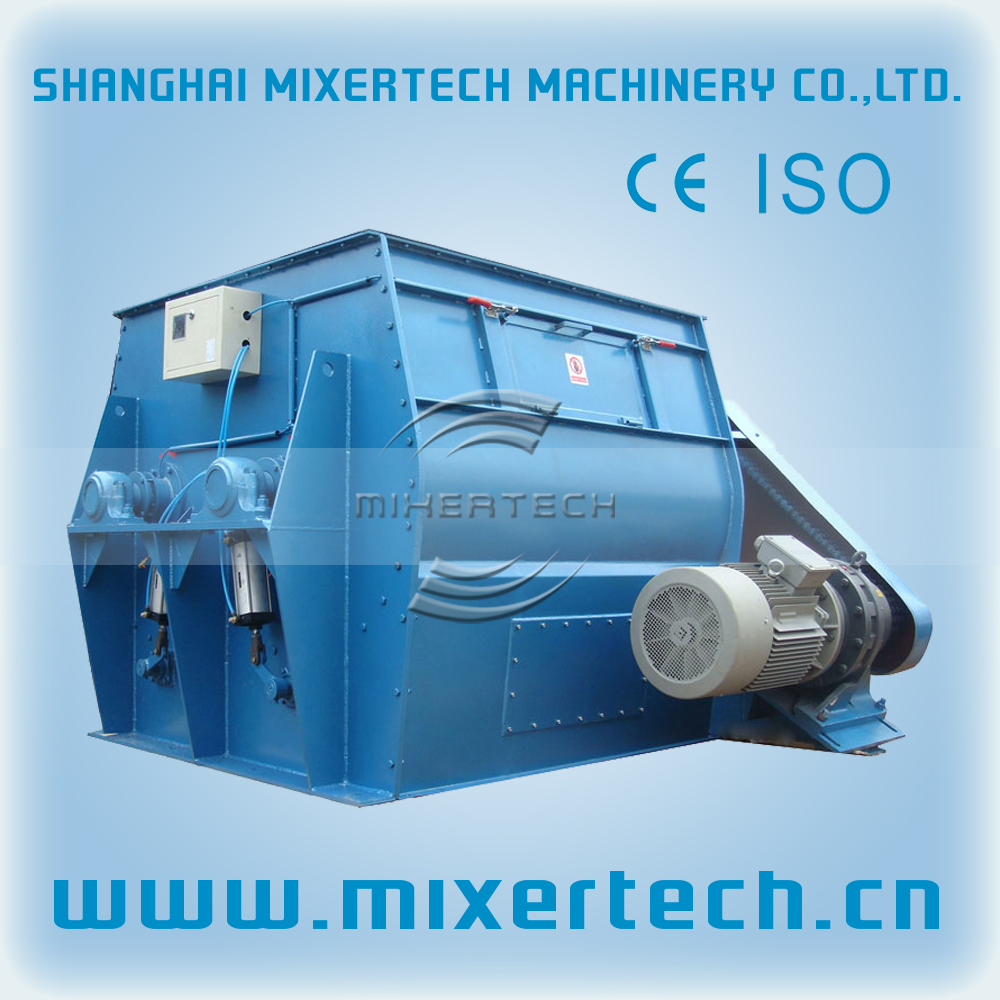 Horizontal ribbon blender / clay mixer / double shaft paddle mixer