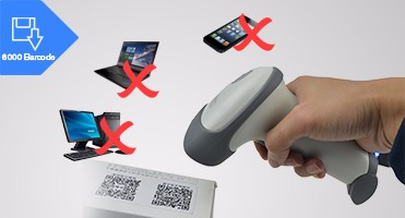 2016 Bluetooth 1d&2d auto-scan barcode scanner for supermarket