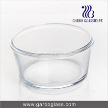 Microwave Pyrex Glass Salad Mixing Bowl , Clear glass bowl / tempered glass salad bowl , heat resistant heat resistant bowl
