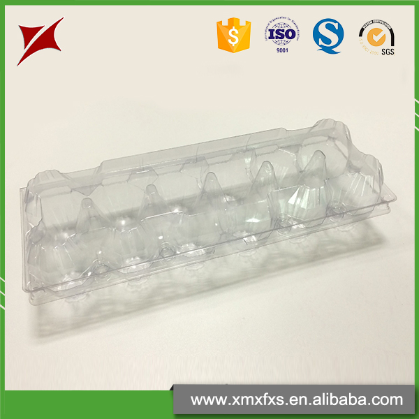 Good design PVC compartment 12 packs blister egg packaging tray