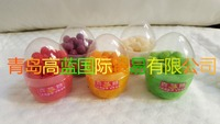 Easter Candy and Coloful Fruity Jelly Ball in Egg Bottle