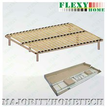 double KD metal bed frame -wooden mattress support plywood bed frame