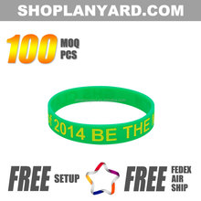 China manufacturer promotion silicone bracelets cheap