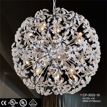 Fancy italian style crystal modern pendant leather luster