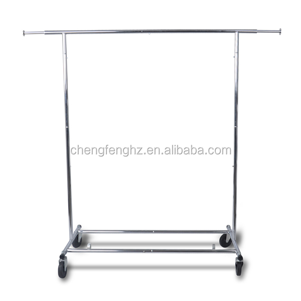 Retail store mobile lifting regulation clothing rack
