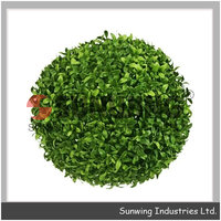 Artificial Boxwood ball topiary plastic ball wall decoration