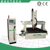 4 Axis CNC Auto Tool Changer Wood Milling Machine 1530